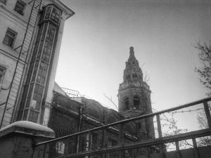 Заброшенная колокольня храма Св. Николая Чудотворца